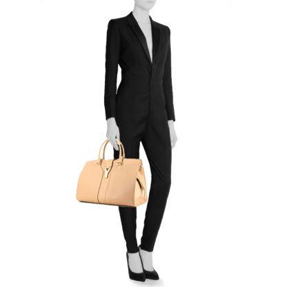 4221b1c7b201 Perfect Yves Saint Laurent Replica Chyc handbag in beige grained leather