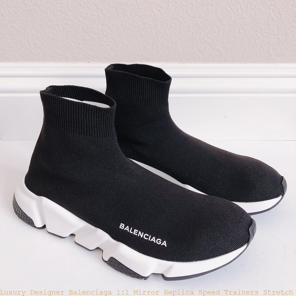 31b9ee16f04 Luxury Designer Balenciaga 1 1 Mirror Replica Speed Trainers Stretch Knit  High Top Sock Sneakers Sneakers balenciaga replica triangle bag