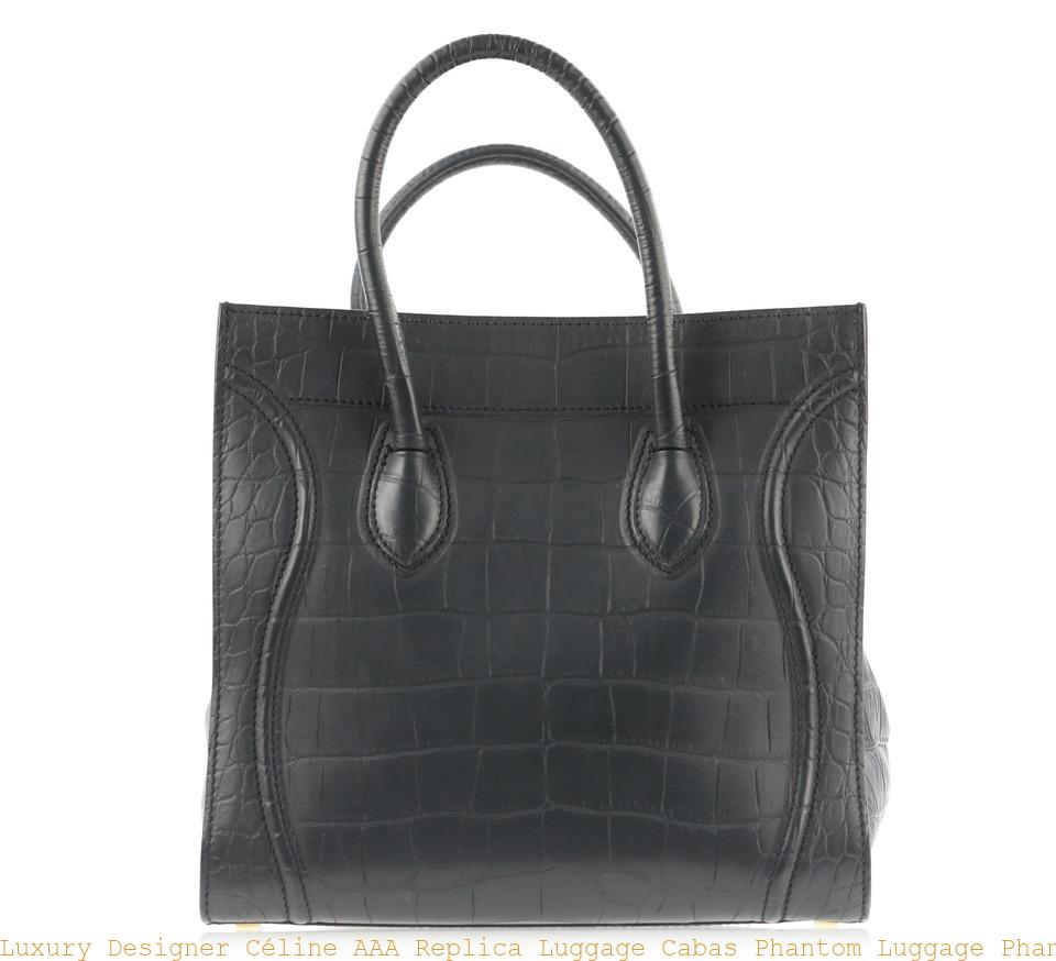 3b4595d01e Luxury Designer Céline AAA Replica Luggage Cabas Phantom Luggage Phantom  Medium Black Leather Tote celine shoes