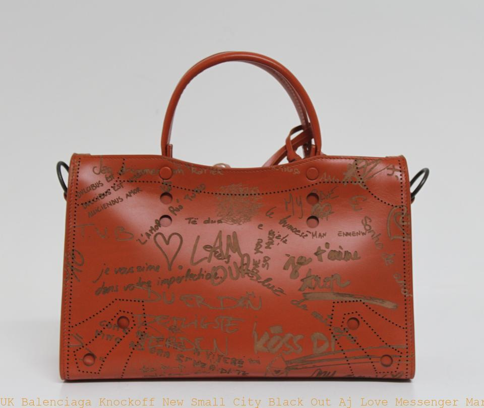 2b6b12dd5943 UK Balenciaga Knockoff New Small City Black Out Aj Love Messenger  Marron Caramel Leather Cross Body Bag balenciaga jacket